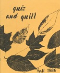 1986 Fall Quiz & Quill Magazine by Otterbein University