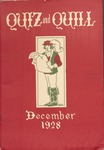 1928 Christmas Quiz & Quill Magazine