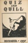 1937 December Quiz & Quill Magazine by Otterbein University