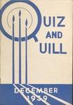 1939 December Quiz & Quill Magazine by Otterbein University