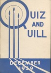 1939 December Quiz & Quill Magazine