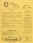 1981 Otterbein Summer Theatre Season Brochure